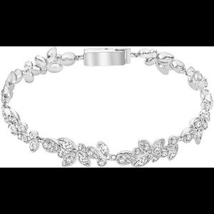 Swarovski Rhodium Plated Crystals Bracelet